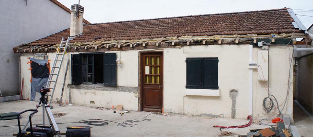 travaux extension ossature bois