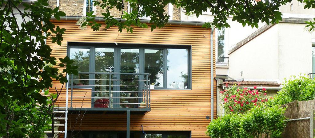 extension jardin ossature bois