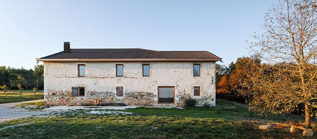 façade ferme réhabilitée maison