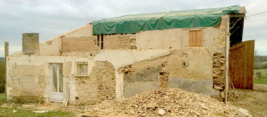 travaux rénovation ferme maison