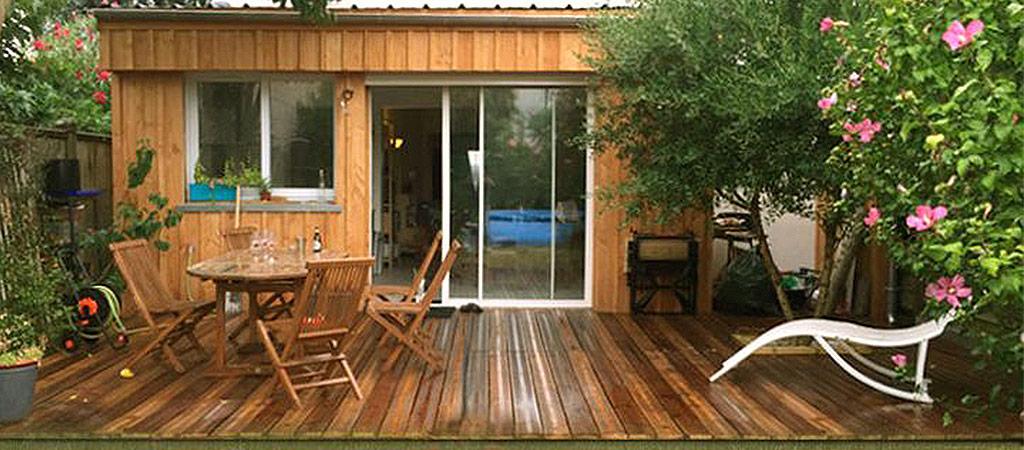 terrasse extension bois maison