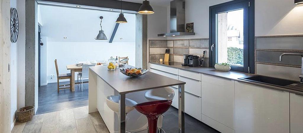 cuisine ouverte extension architecte