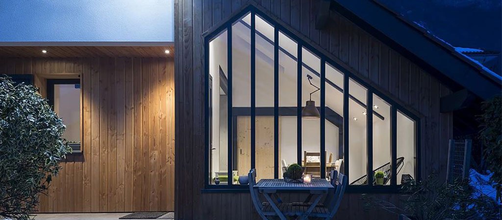 extension verriere bois architecte