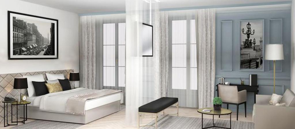 3D architecte chambre hotel