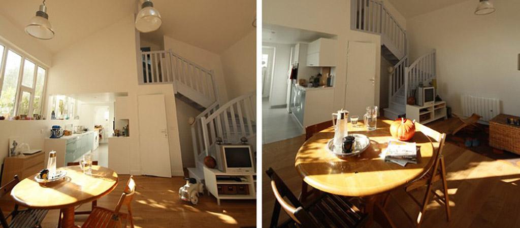 escalier sejour loft architecture