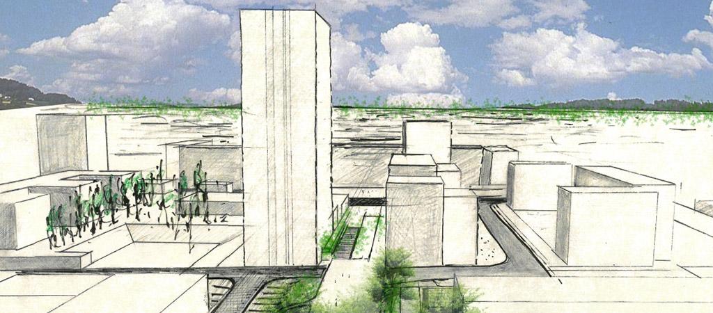 croquis projet quartier architecte