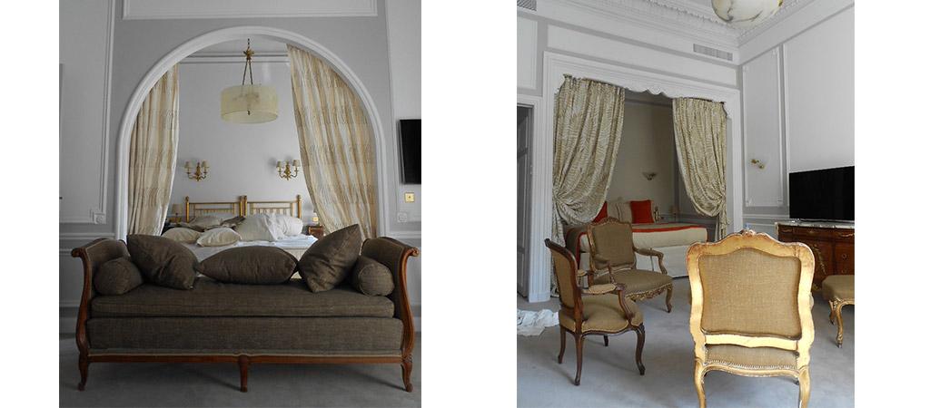 chambre baroque réaménagement hotel