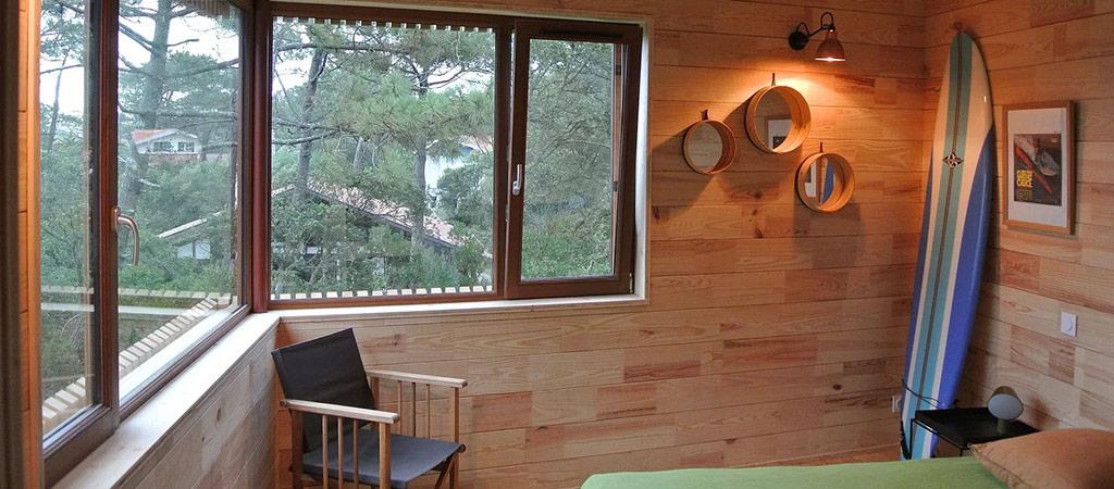 chambre extension maison bois