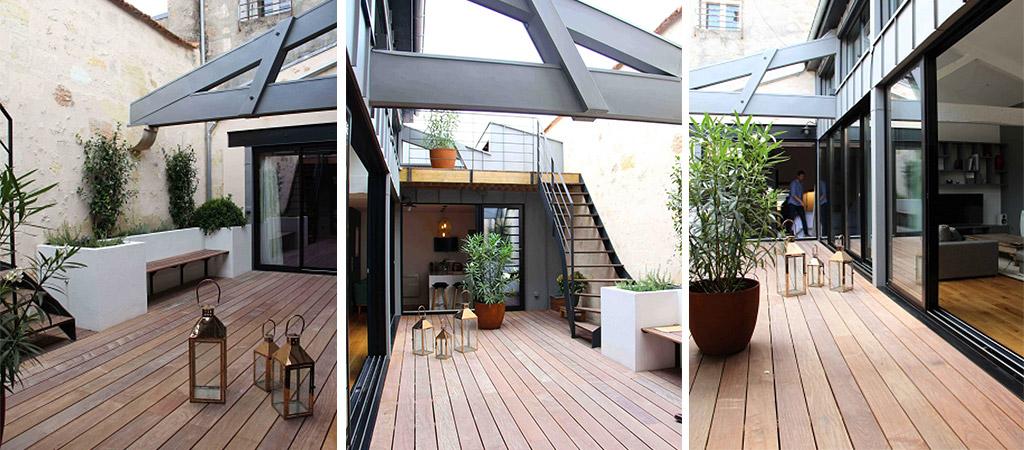 terrasse bois loft architecture