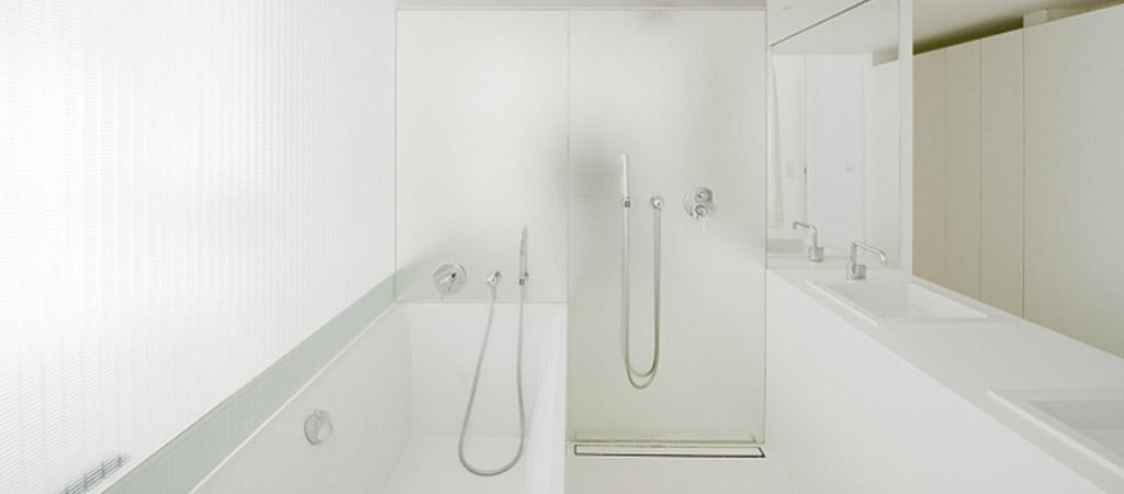 salle eau transparence loft