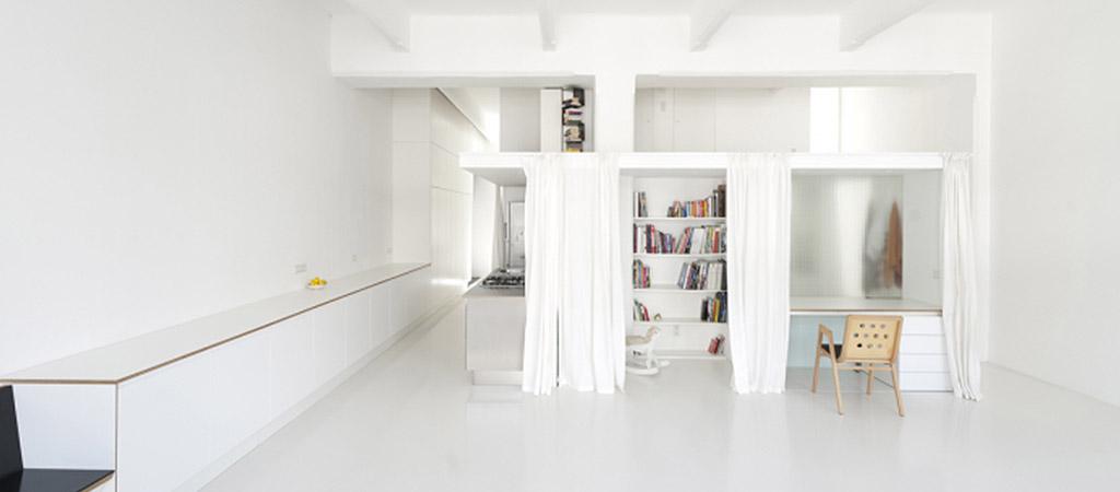 sejour blanc loft architecte