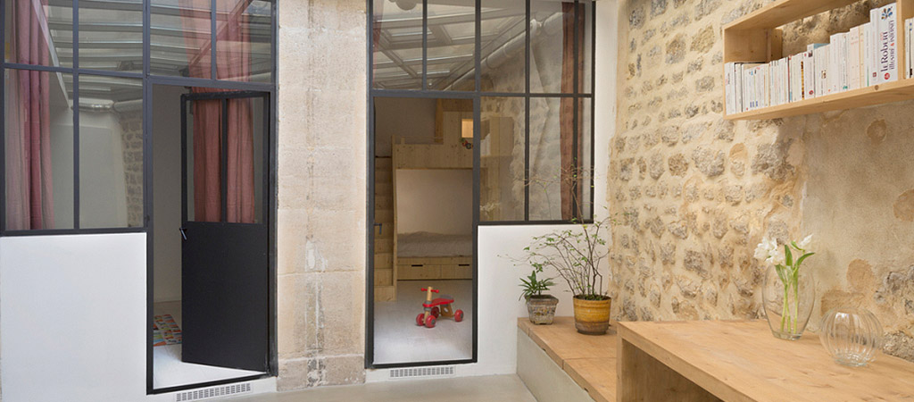 couloir verriere loft architecte
