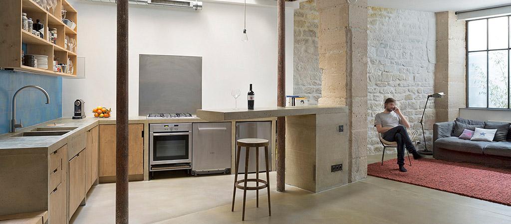 architecture cuisine ouverte loft