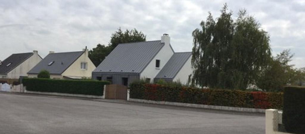 facade extension zinc maison