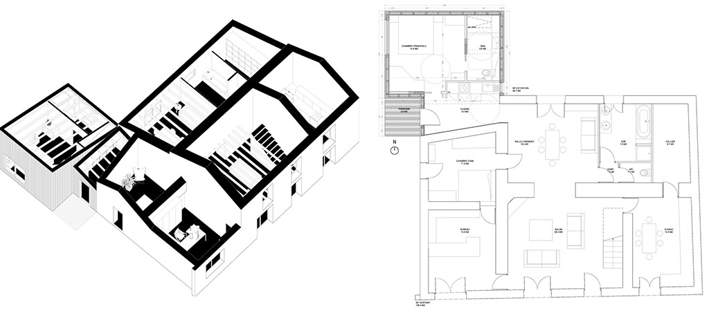 plan schema extension architecte
