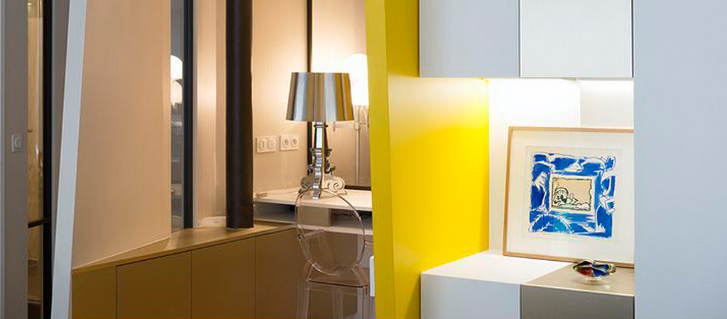 decoration jaune loft architecture