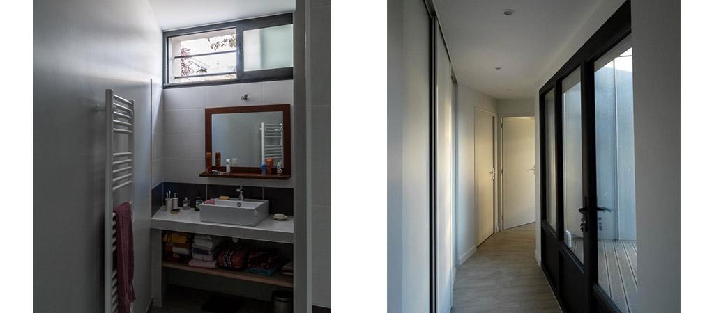 salle eau couloir extension