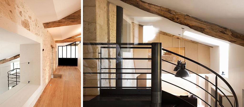 palier escalier maison architecte
