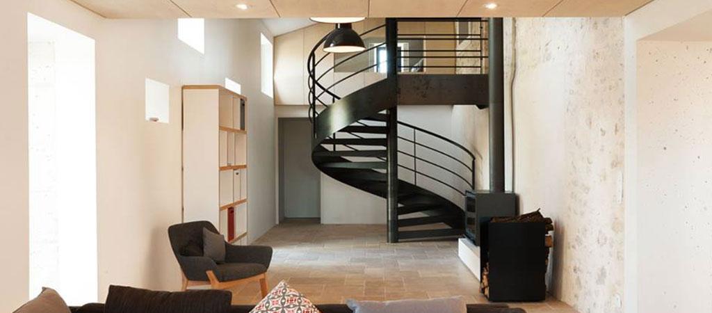 escalier colimaçon rénovation architecte