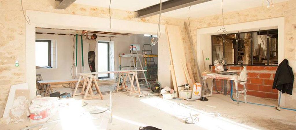 travaux réhabilitation ferme maison