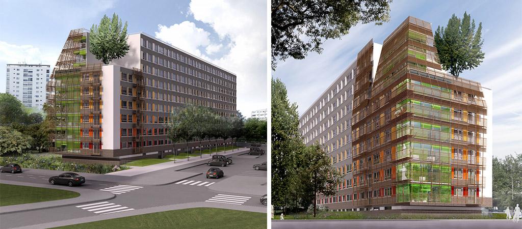 3D projet réaménagement architecture