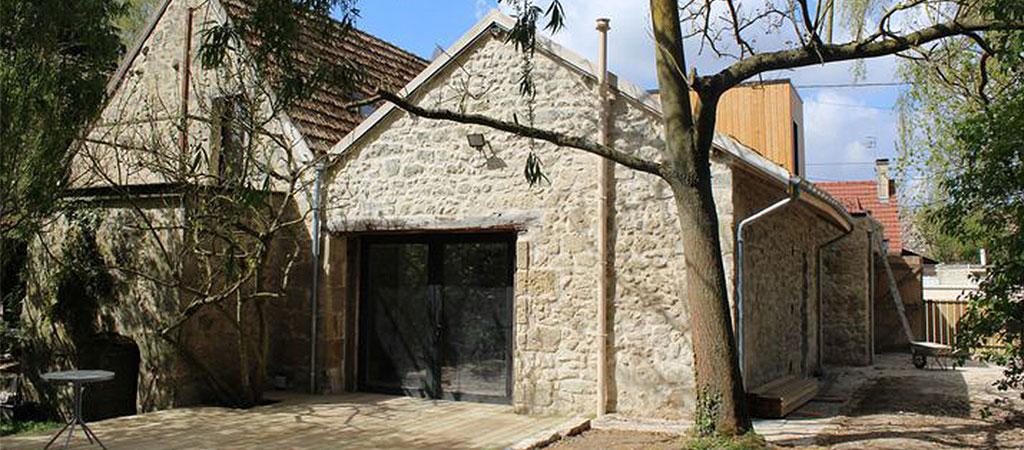 terrasse ferme rénovée maison