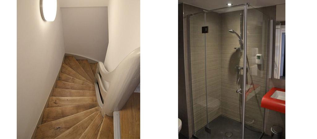 escalier salle eau hotel