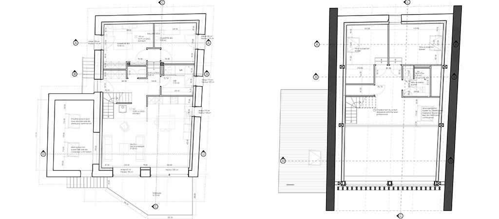 plan maison rénovée architecte