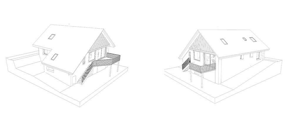 plan façade réhabilitation maison