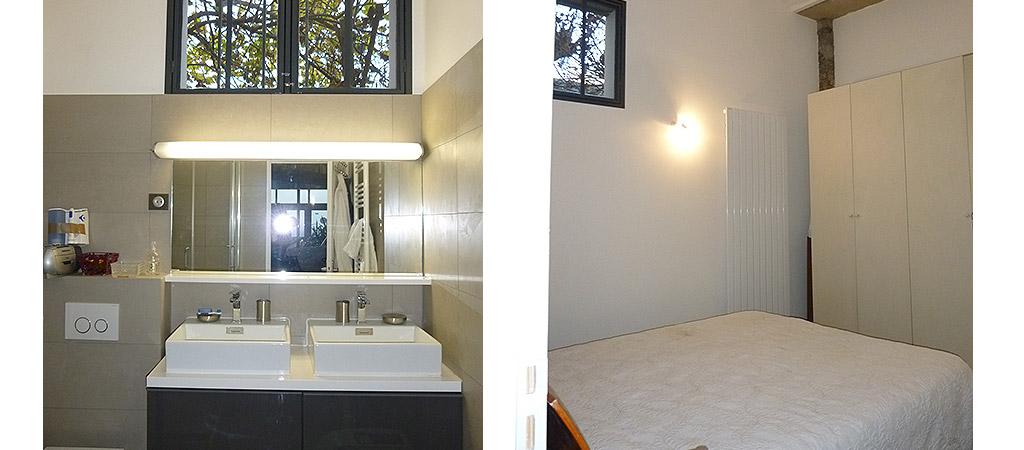 salle eau chambre loft