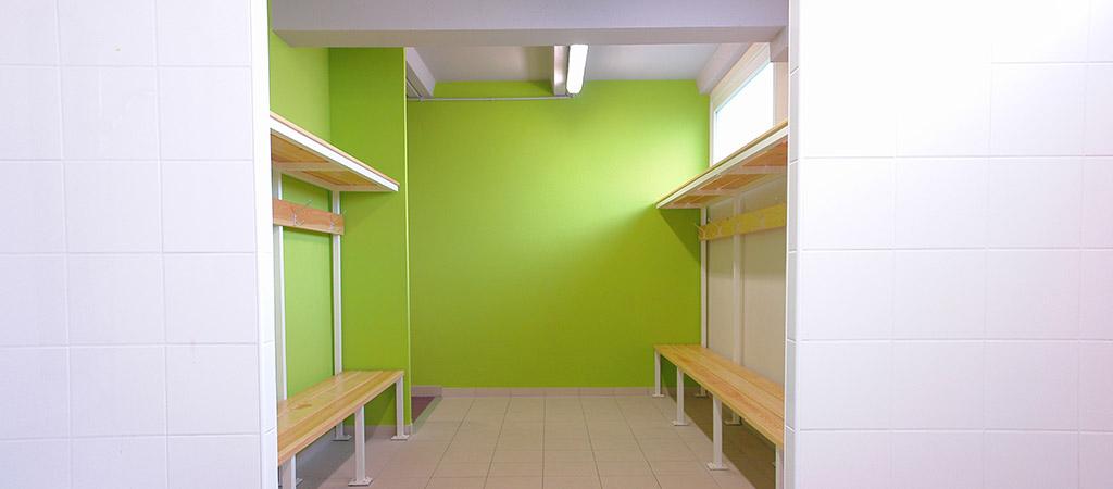 vestiaire renovation complexe sportif