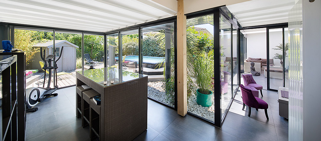 veranda contemporaine villa architecte