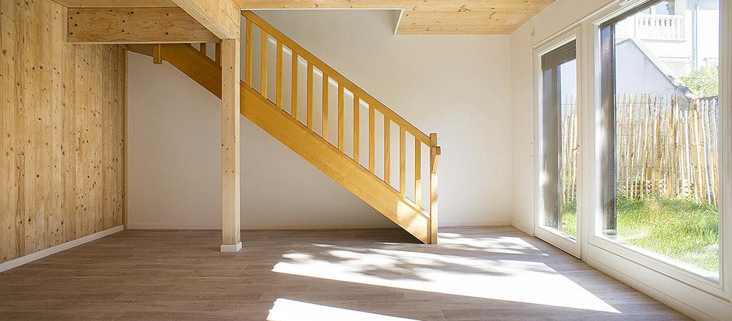 escalier maison logements collectifs