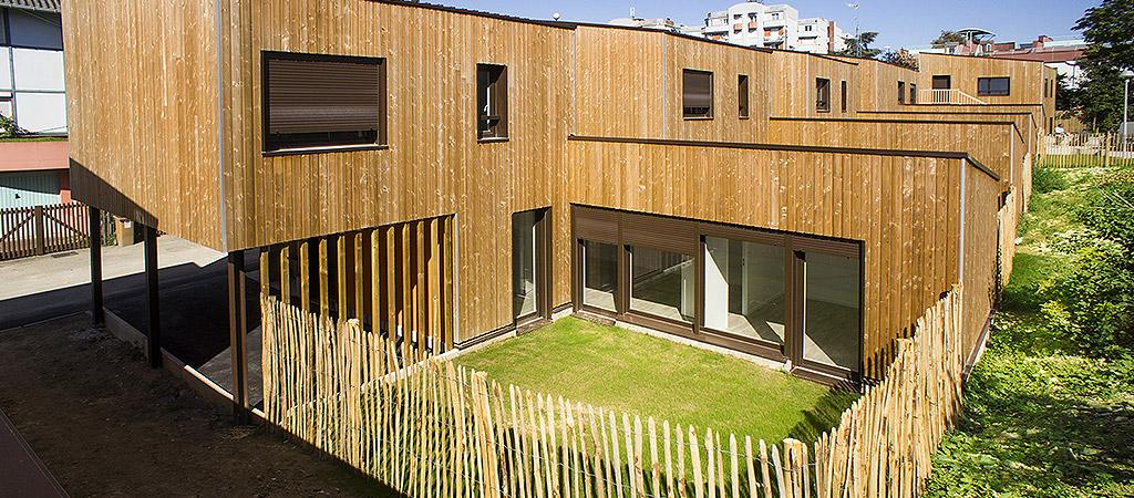 logement bois jardin architecture