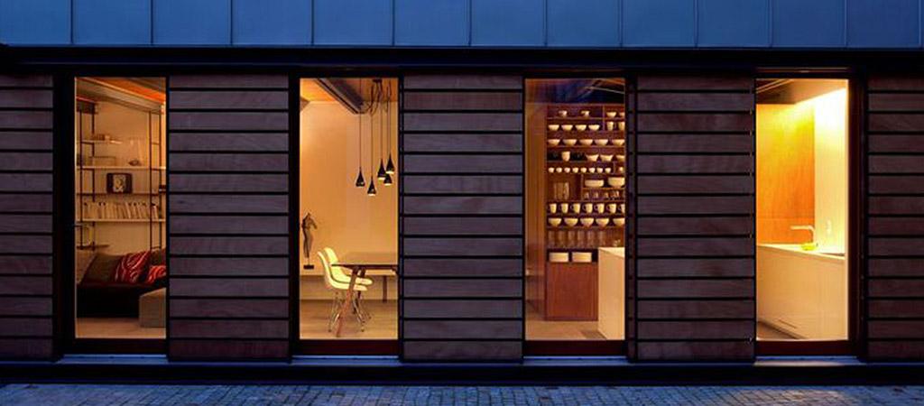 facade vitrée extension villa
