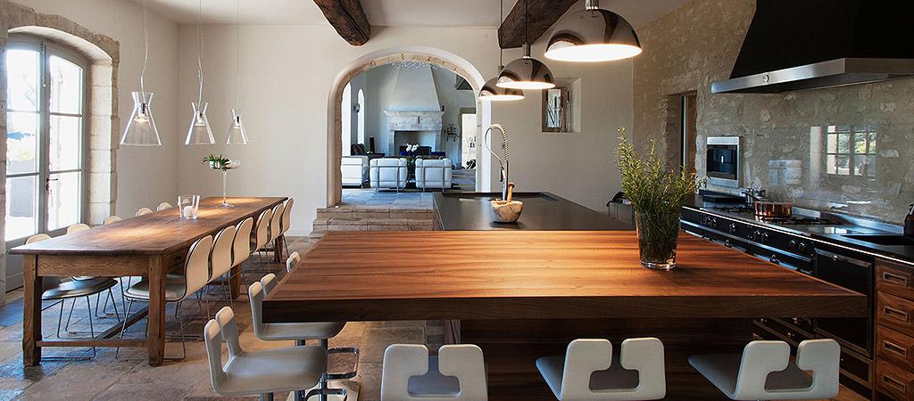 cuisine ouverte villa architecte