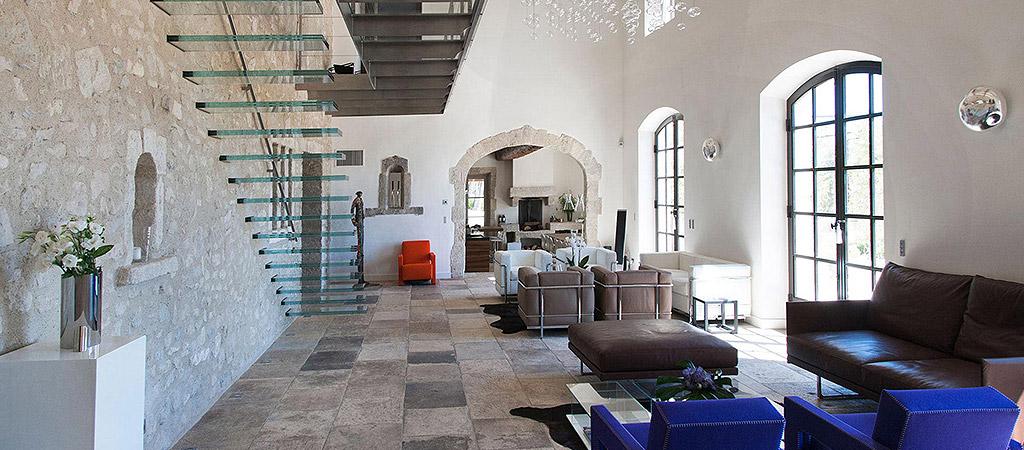 sejour spacieux architecture villa