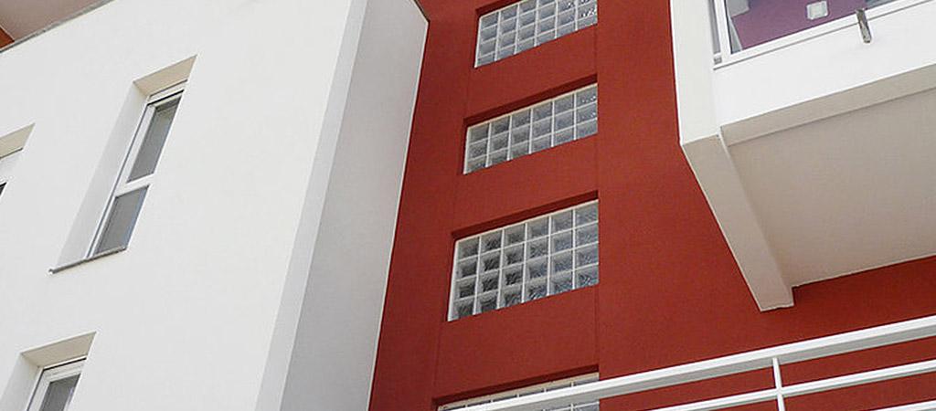 vitraux facade logements architecte