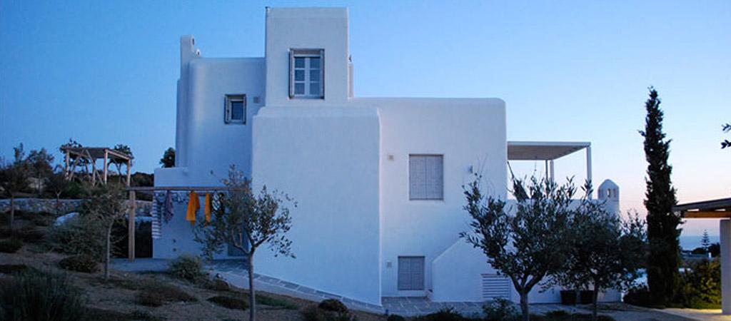 architecture facade villa grece