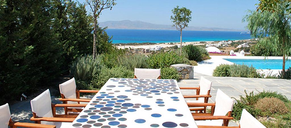 terrasse vue mer villa