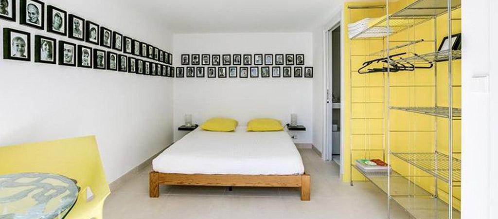 chambre colorée construction villa