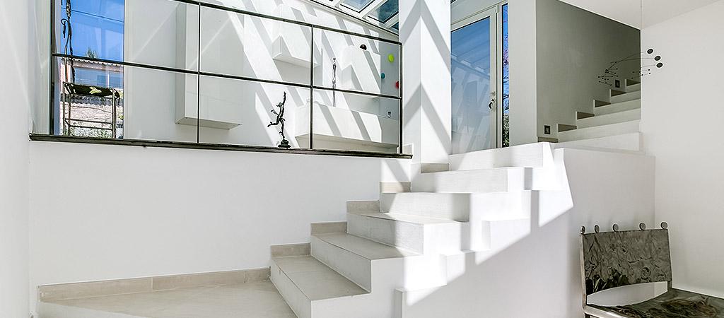 escalier verriere villa arhcitecte
