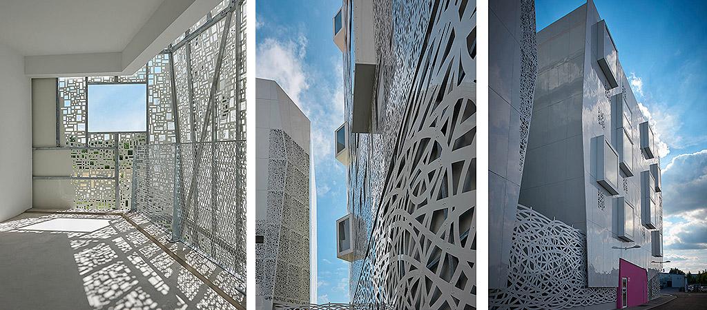 logements collectifs ajourés architecte