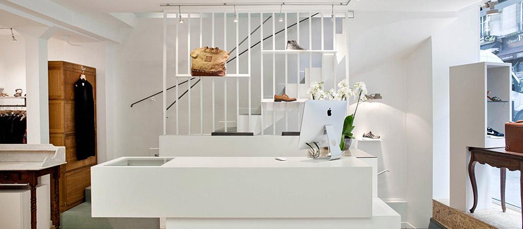 caisse boutique vetements architecte