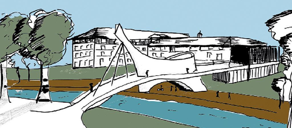 croquis architecte réalisation pont