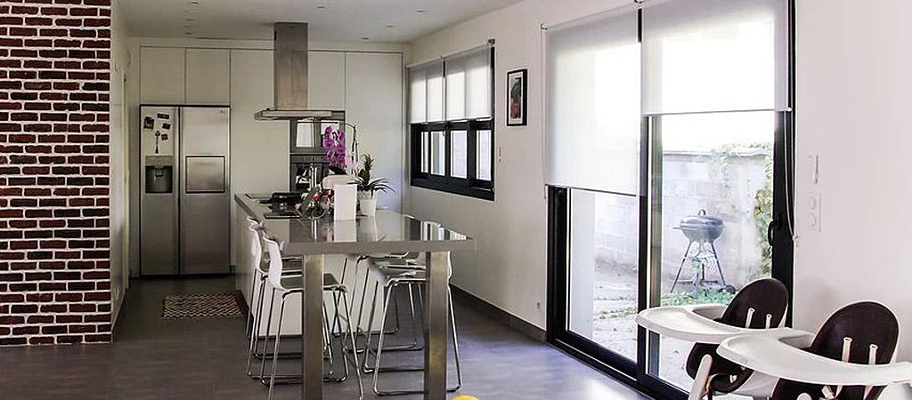 cuisine ouverture construction maison