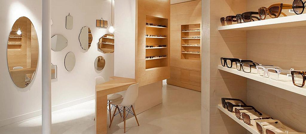aménagement boutique opticien architecte