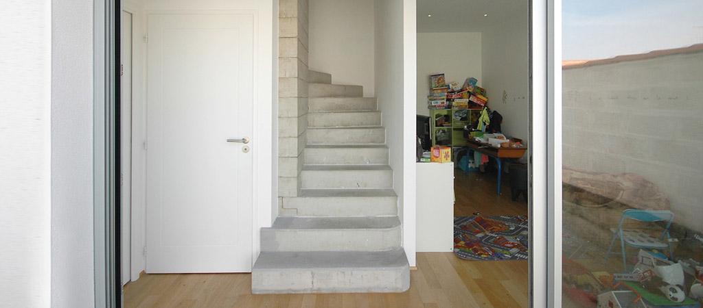 entree escalier maison architecte
