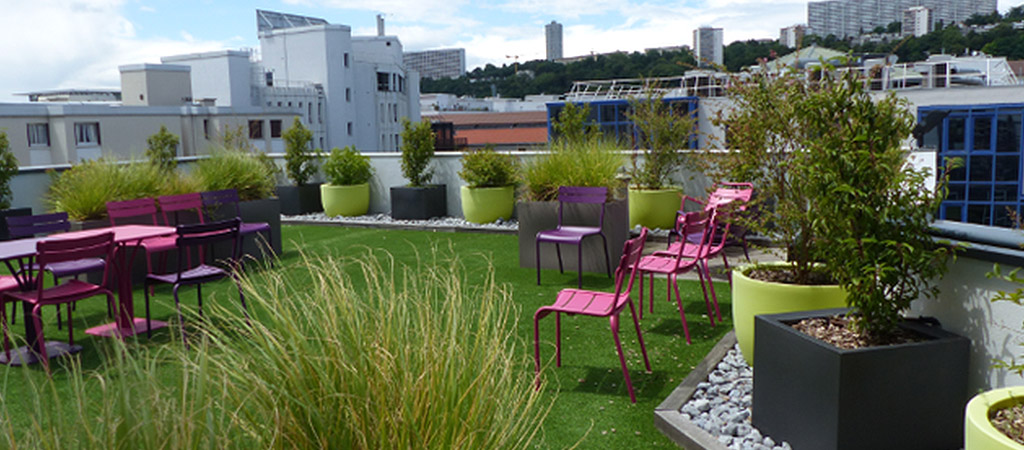 jardin toiture aménagement architecte