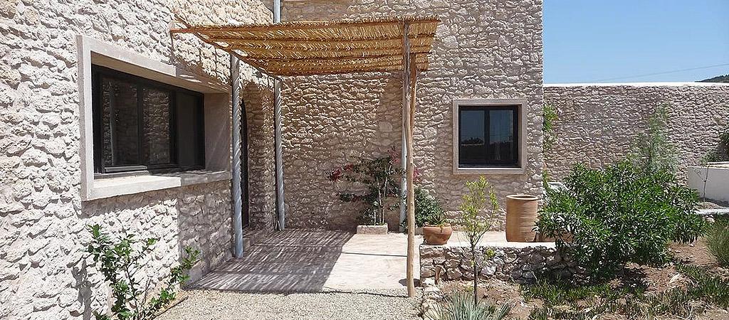 facade maison pierre maroc